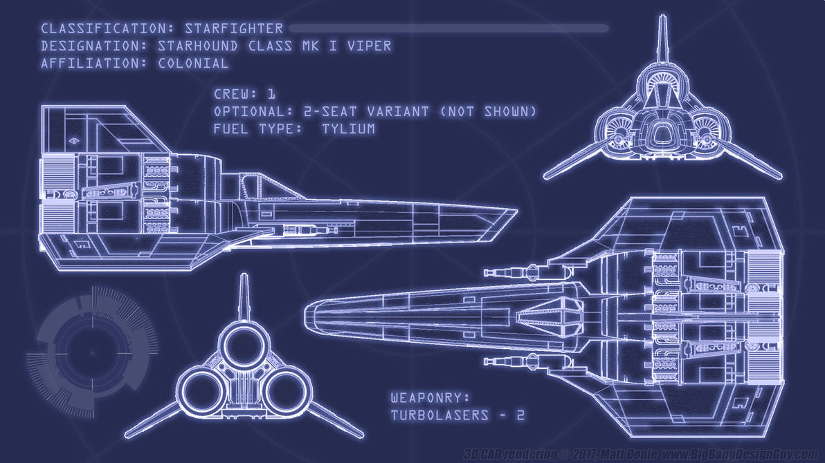 Colonial Viper Blueprints by Ravendeviant on DeviantArt
