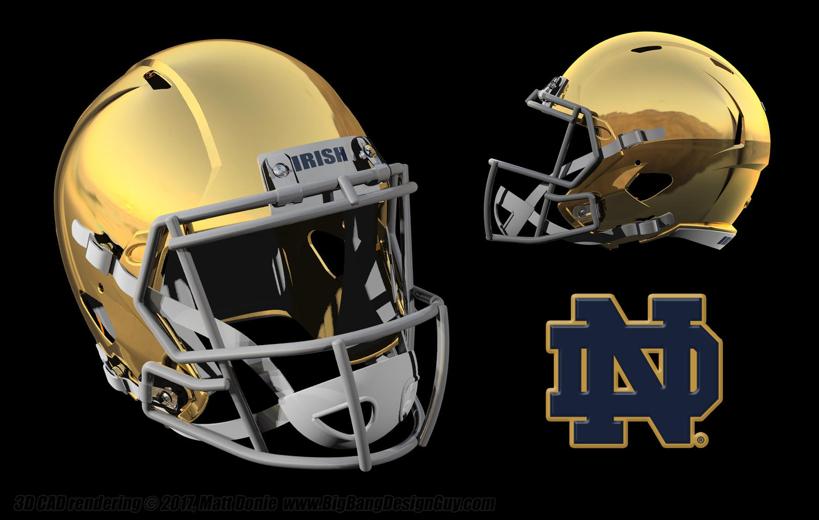 Notre dame football helmet 03 by ravendeviant on deviantart - Notre dame football wallpaper ...
