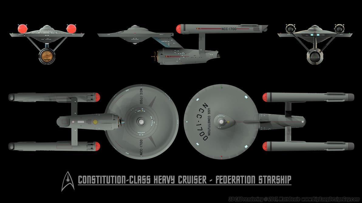 Constitution Class Heavy Cruiser   Schematics 02 By Ravendeviant ...