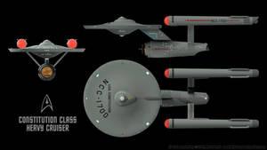 Constitution Class Starship - Schematics 03
