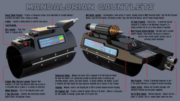 Mandalorian Gauntlet (Vambrace) Features