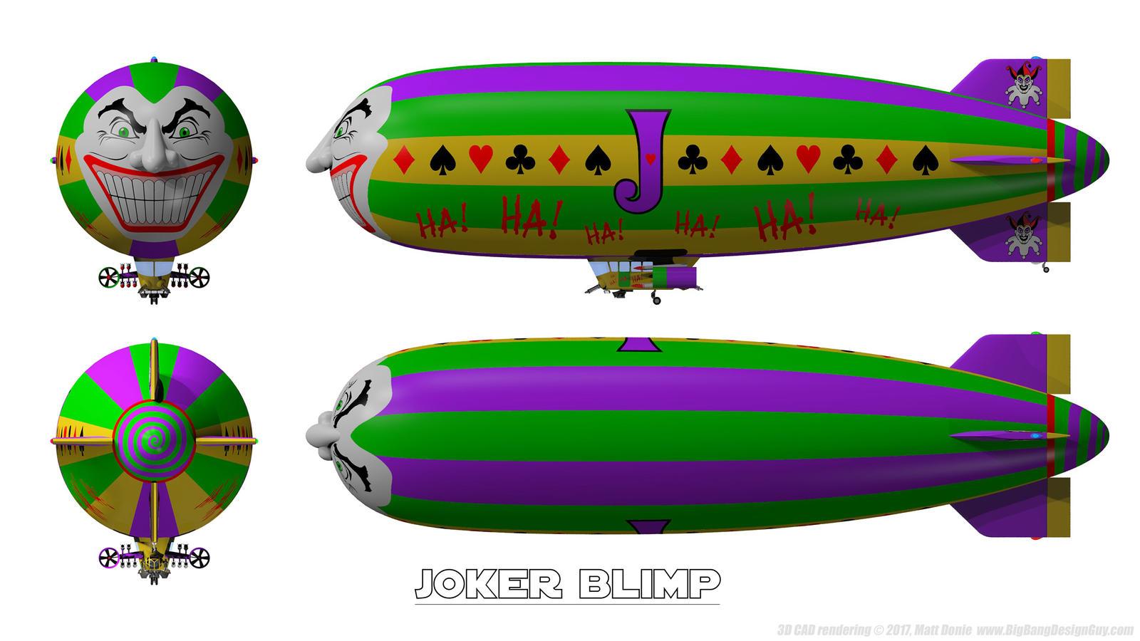 Batman - Arkham Skies - Joker Blimp Schematics 01 by ... on