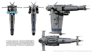 MG-100 Starfortress Resistance Bomber Schematics