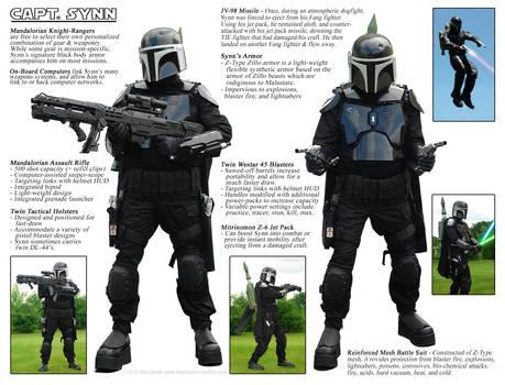 Mandalorian Armor - Captain Synn - Schematic