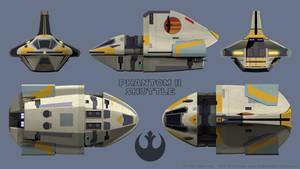 Phantom II Shuttle Schematics - Star Wars Rebels by Ravendeviant
