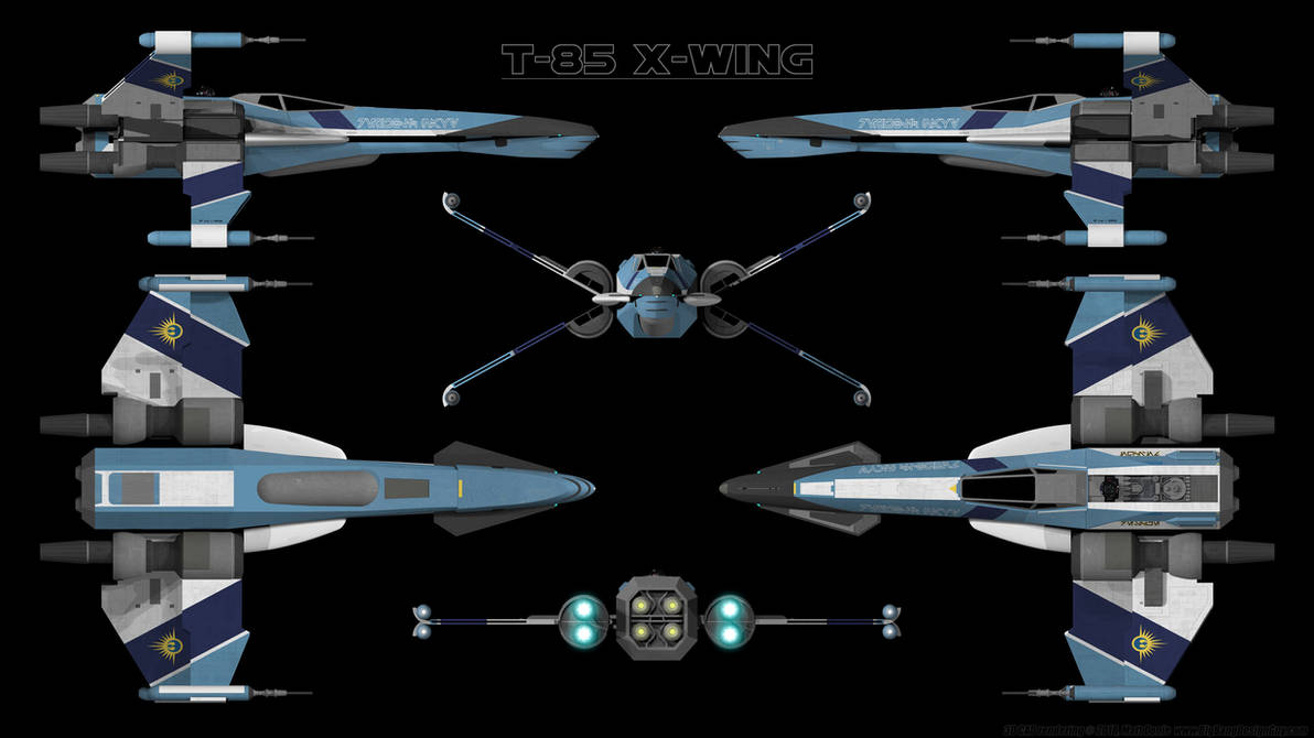 T-85 X-Wing Starfighter - Schematic by Ravendeviant on DeviantArt on