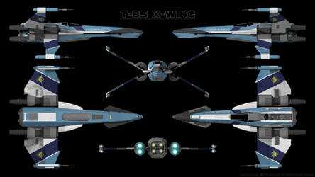 T-85 X-Wing Starfighter - Schematic by Ravendeviant
