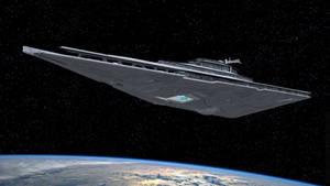 Resurgent Star Destroyer In Orbit by Ravendeviant