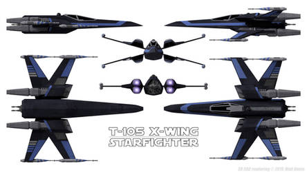 T-105 X-Wing - Schematic by Ravendeviant