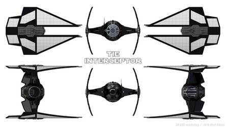 First Order TIE Interceptor - Black - Schematics