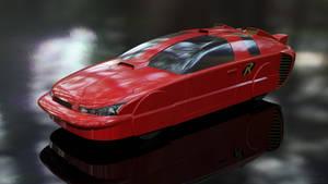 Robin's Car - The Redbird - Portrait