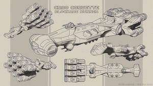 CR90 Blockade Runner - Sketches
