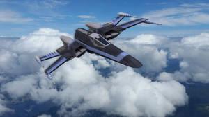 T-105 X-Wing in Atmosphere