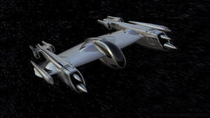 Rogue-class Porax-38 P-38 in Space