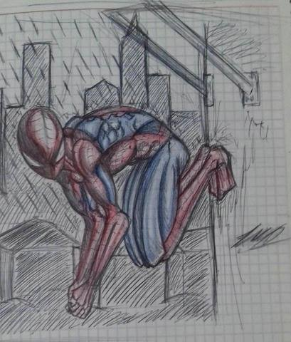 spiderman in a notebook 7u7 by MAXicano