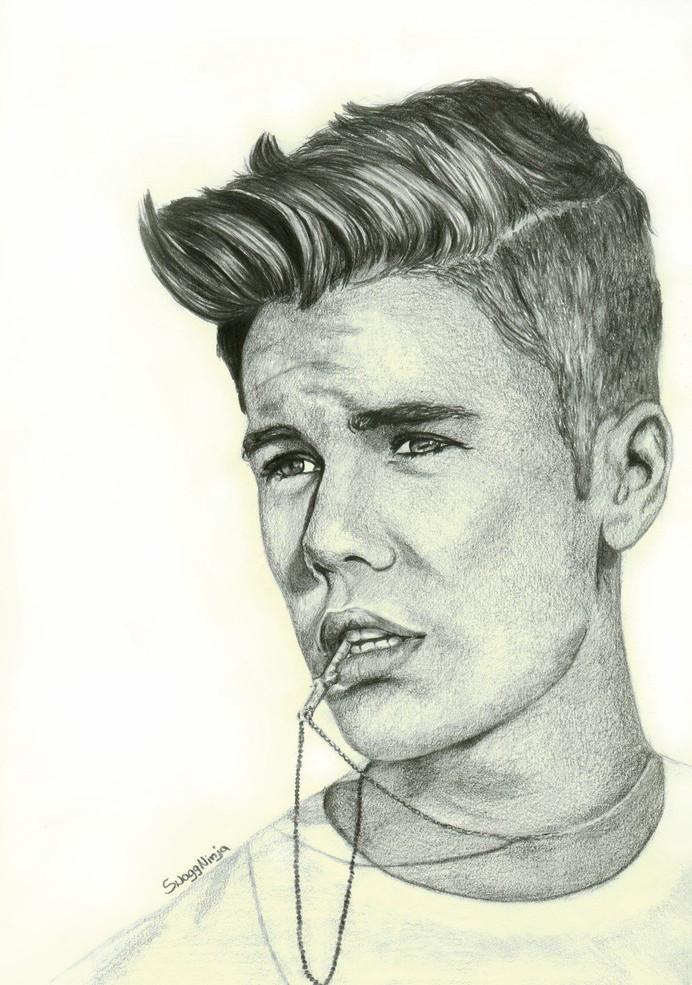 Justin Bieber Drawing By Bidonka On DeviantArt