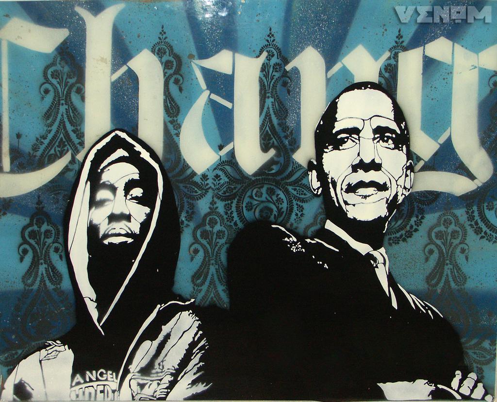 2pac And Barak Obama Stencil By Leovenom On DeviantArt
