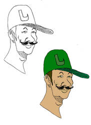 Slightly Creepy Luigi