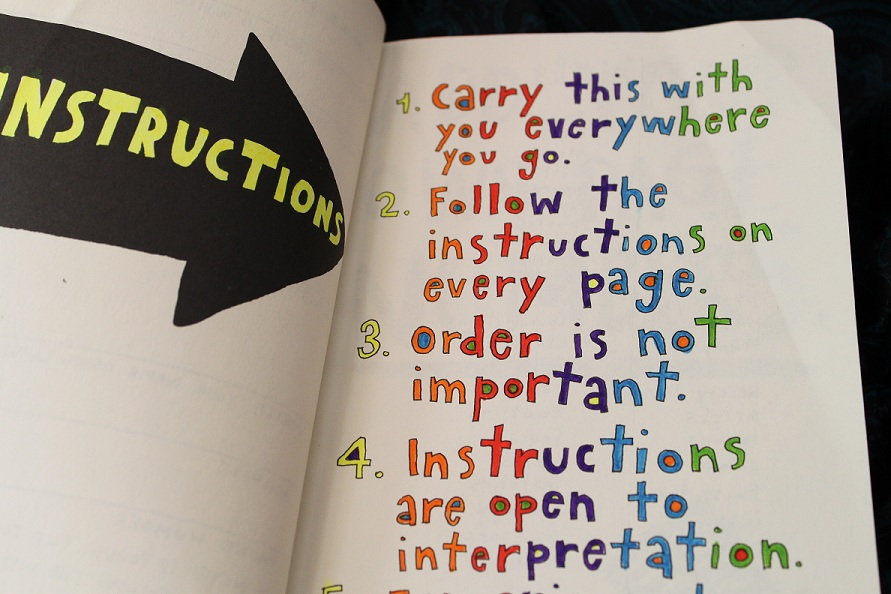 wreck this journal instructions
