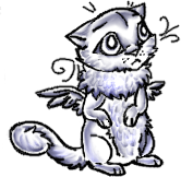 Free winged kitten pose by MooiLeven