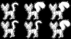 Free Kitten lineart