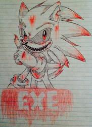 Bloody Sketch (Sonic Exe.) by deardiana15