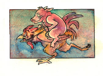 The Pig and the Rooster by gryen