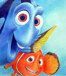 Marlin and Dory by gryen
