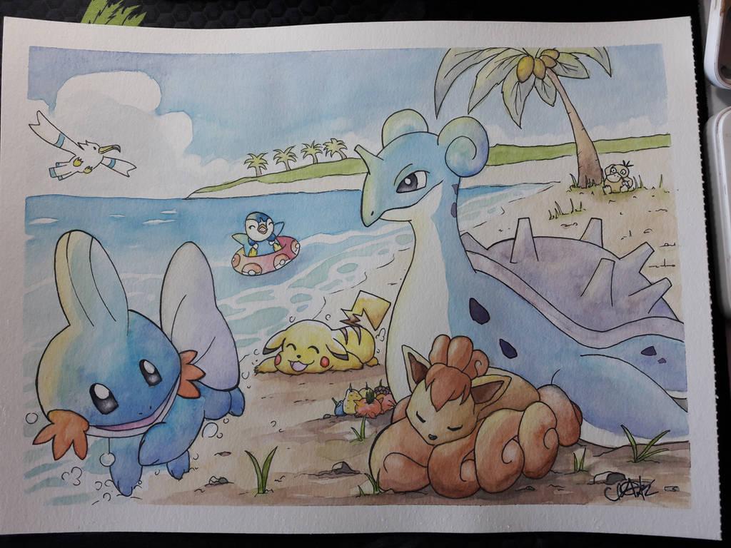 Pokemon beach fun! by xDizzyBx