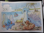 Pokemon beach fun!