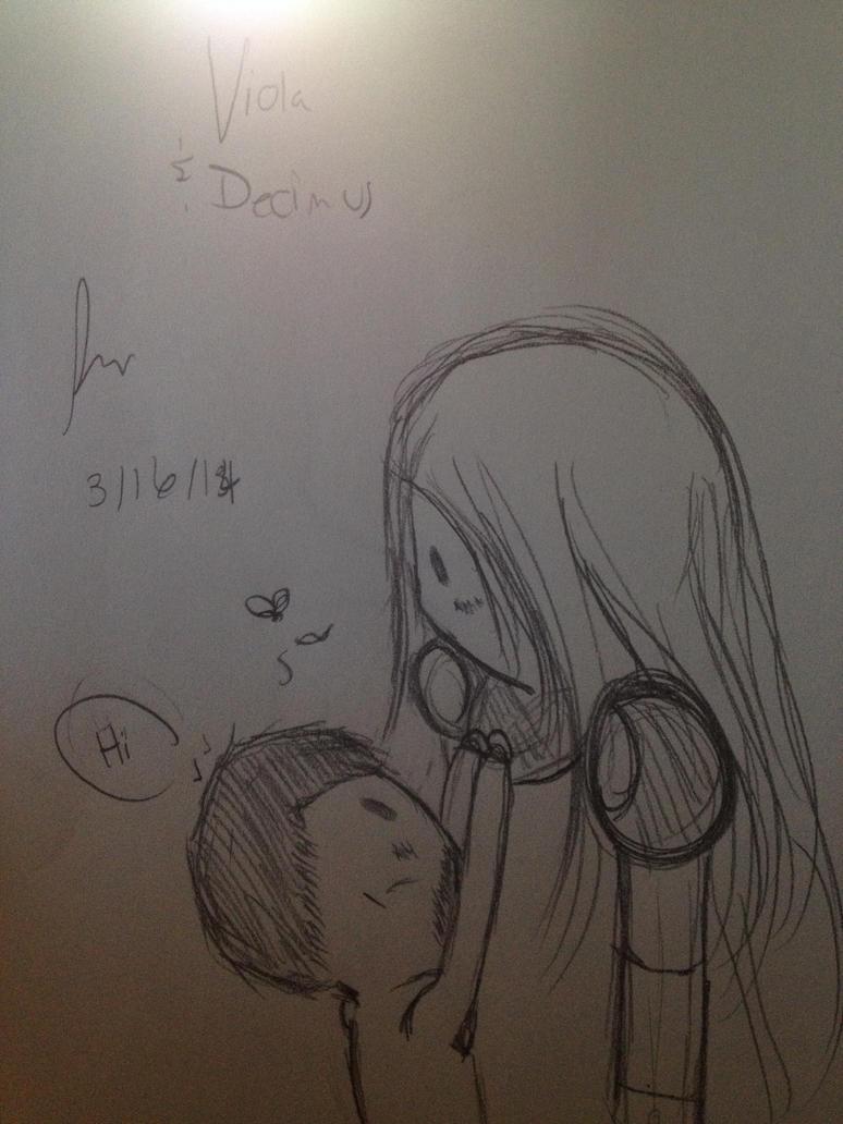 Viola and Decimus by videogamemaniac001