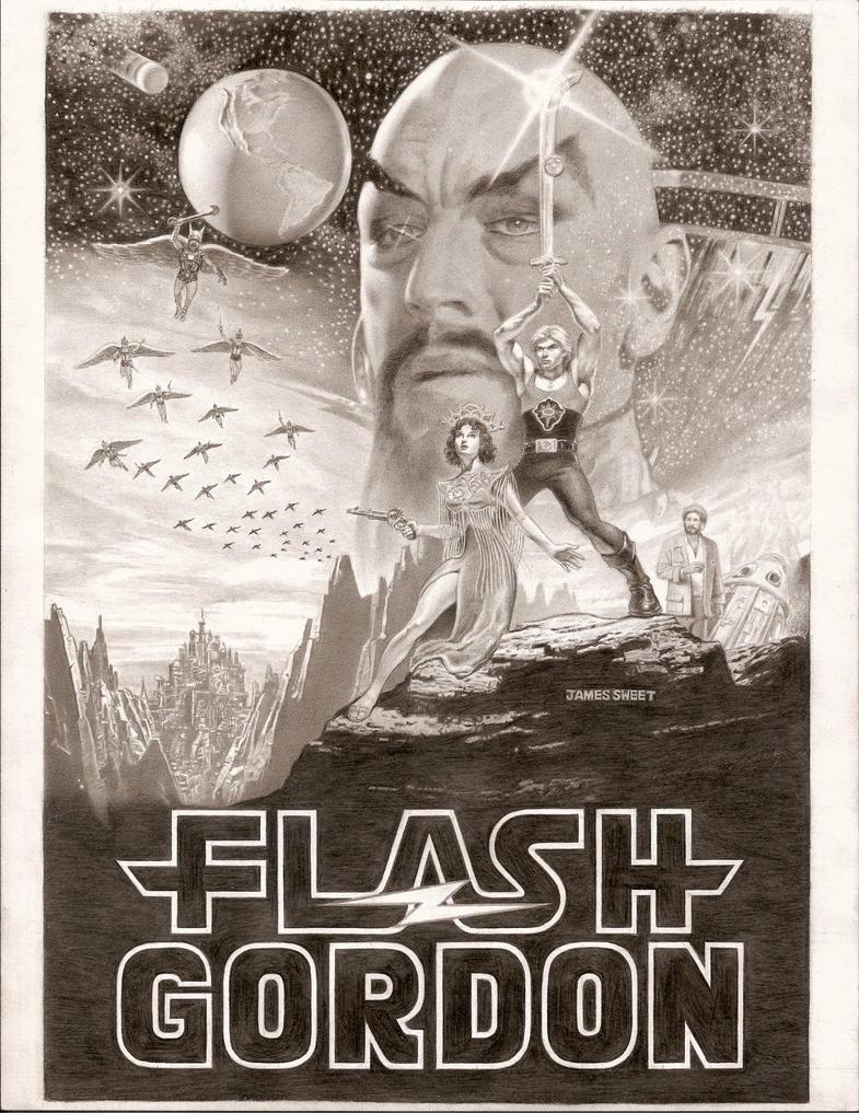 Flash Gordon -Star Wars poster by JIM-SWEET