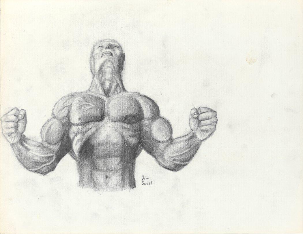 Muscular Man Drawing