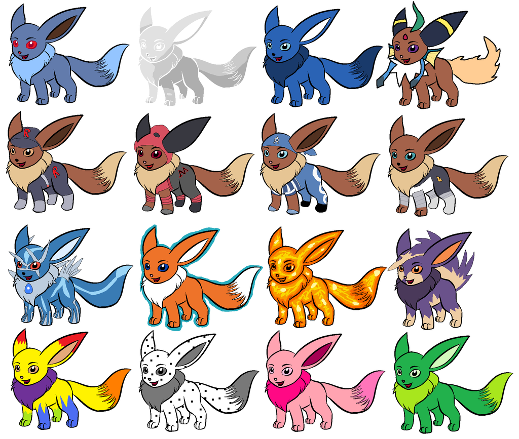 Eevee Evolution Chart Coloring Pages Cute Pokemon Coloring Pages