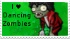 PvZ Stamp: I love Dancing Zombies by Shadow-Cipher