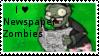 PvZ Stamp: I love Newspaper Zombies