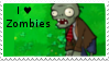 PvZ Stamp: I love Zombies by Shadow-Cipher