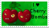 PvZ Stamp: I love Cherry Bombs by Shadow-Cipher