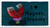 PvZ Stamp: I love Magnet-Shrooms by Shadow-Cipher