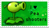 PvZ Stamp: I love Peashooters by Shadow-Cipher