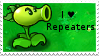 PvZ Stamp: I love Repeaters by Shadow-Cipher