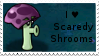 PvZ Stamp: I love Scaredy-Shrooms by Shadow-Cipher
