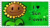 PvZ Stamp: I love Sunflowers by Shadow-Cipher