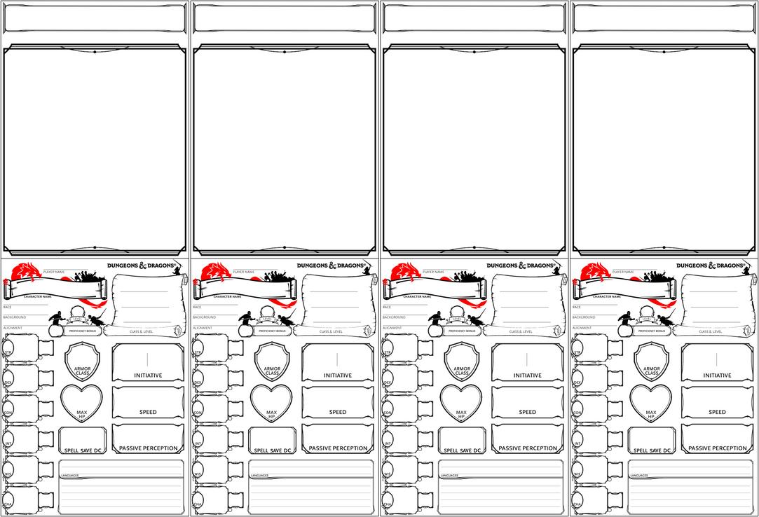 DnD 5e GM Character Tents [PRINTABLE] by KitaenSilva on DeviantArt