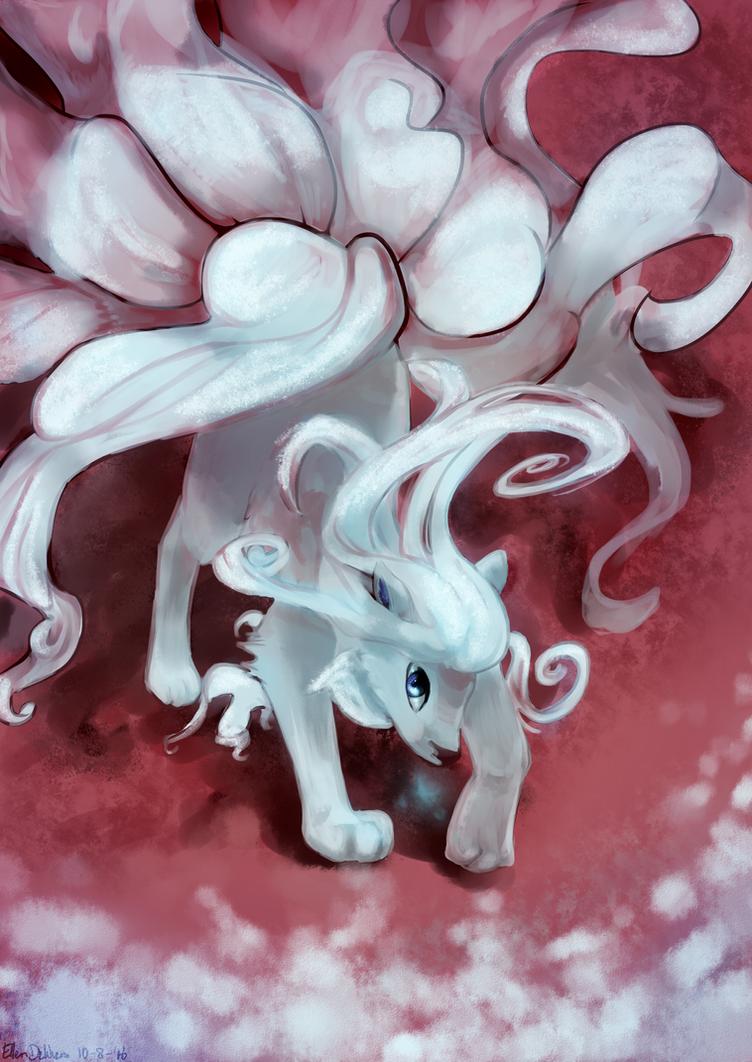 Alolan Ninetales by ArtsyShionai
