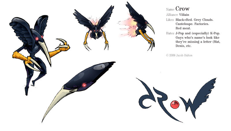 2 Crows Cartoon Characters : Crow character sheet by jhalton on deviantart