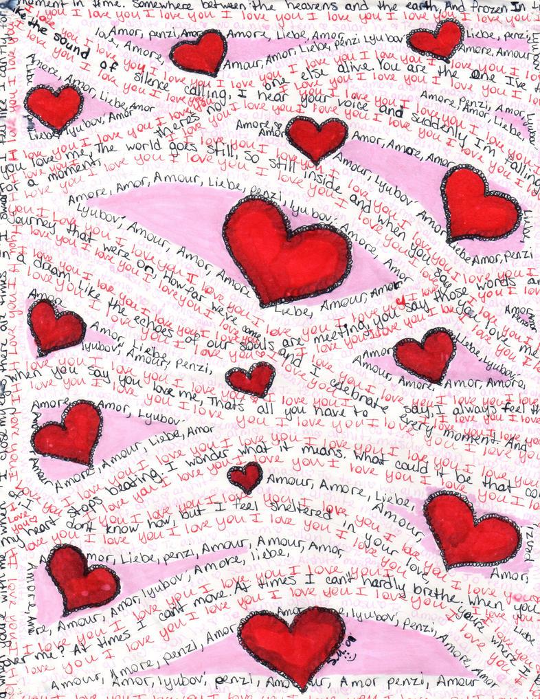 Love Word Art Drawing 2 by samygirl2010