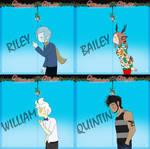 Mistletoe Meme: Riley, Bailey, William and Quintin