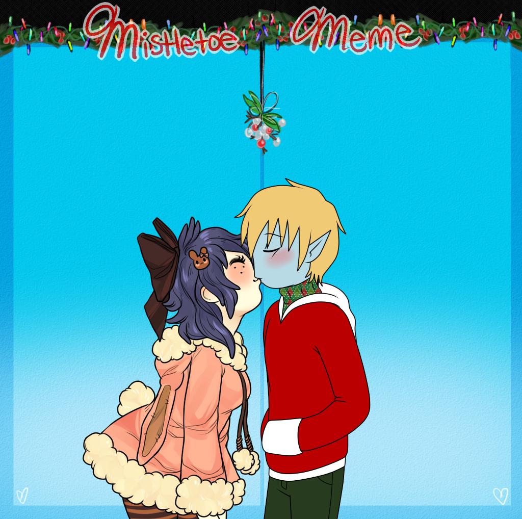 Mistletoe Meme: Brad x Amy