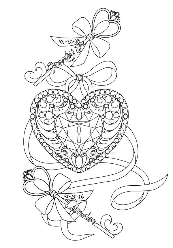 Key To My Heart Coloring Pages